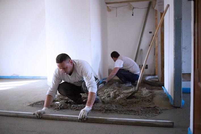 Massetto tradizionale in sabbia e cemento giaguaro - Massetto sabbia cemento proporzioni ...